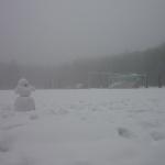 Зима на стадионе