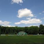 Футбольное поле. Вид на главное здание.