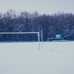 Футбольное поле. Зима
